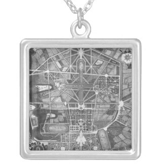 General plan of the town and Chateau of Silver Plated Necklace