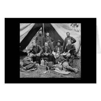 General Porter's Staff with George Custer 1862 Greeting Card