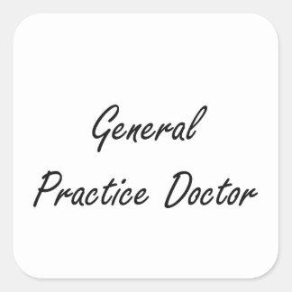 General Practice Doctor Artistic Job Design Square Sticker