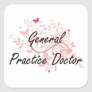 General Practice Doctor Artistic Job Design with B Square Sticker