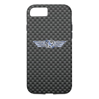 General Private Air Pilot Chrome Like Star Wings iPhone 8/7 Case