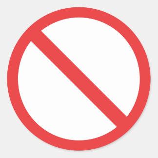 General Prohibition Round Sticker