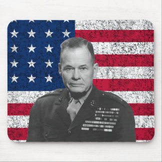 General Puller and The American Flag Mouse Pad