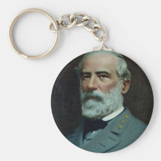 General Robert E. Lee Basic Round Button Key Ring