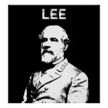 General Robert E. Lee -- Black and White Poster