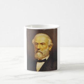 General Robert E. Lee by Strobridge & Co. Lith Basic White Mug