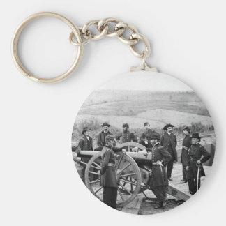 General Sherman in Atlanta, 1864 Basic Round Button Key Ring