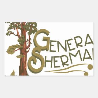General Sherman Rectangular Sticker