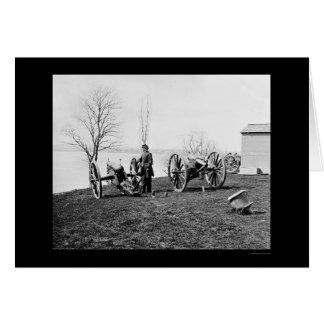 General Sickles and Wiard Guns 1862 Greeting Card