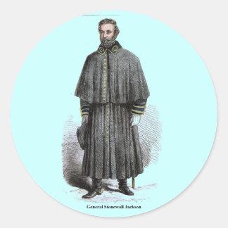 General Stonewall Jackson Round Sticker