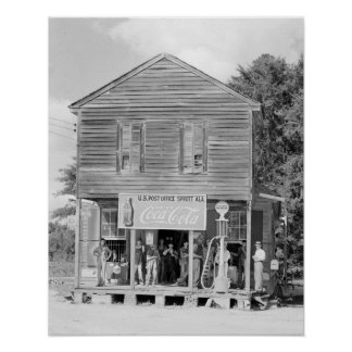 General Store & Post Office, 1935. Vintage Photo Poster