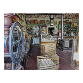 General Store - Virginia City Ghost Town - Montana Poster