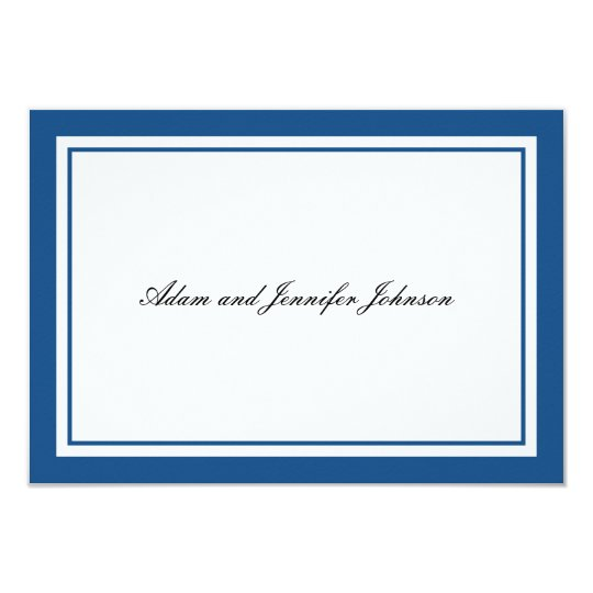 General Thank You Note Cards (Navy Blue / White)