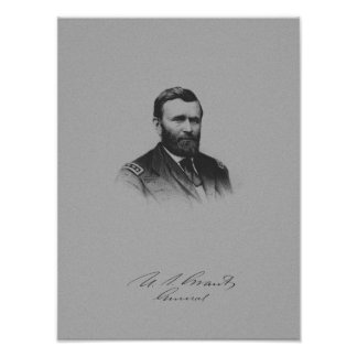 General Ulysses S. Grant And His Signature Posters