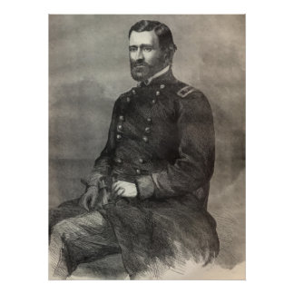 General Ulysses S Grant Portrait Print