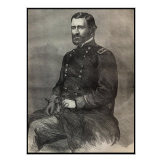 General Ulysses S Grant Portrait -- With Border Posters