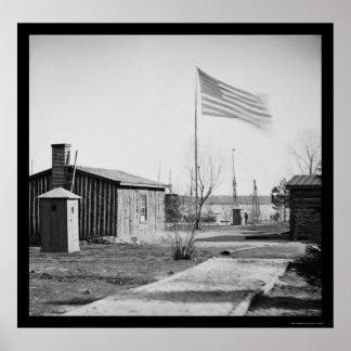 General Ulysses S. Grant's Headquarters 1864 Print