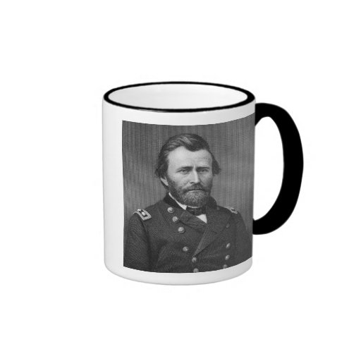 General Ulysses Simpson Grant, engraved after a da Coffee Mugs