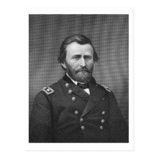 General Ulysses Simpson Grant, engraved after a da Postcard