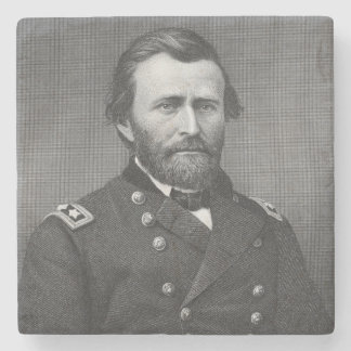General Ulysses Simpson Grant, engraved after a da Stone Coaster