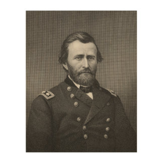 General Ulysses Simpson Grant, engraved after a da Wood Wall Art