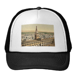 General view and Minaret of the Bride, Damascus, H Trucker Hats