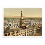 General view and Minaret of the Bride, Damascus, H Postcard