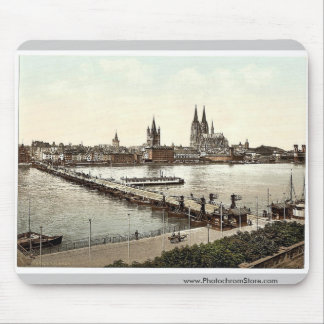 General view Cologne the Rhine Germany classic Mousepads