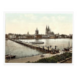 General view, Cologne, the Rhine, Germany classic Post Cards
