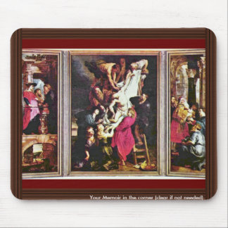 General View From The Cross Triptych By Rubens Mouse Pad