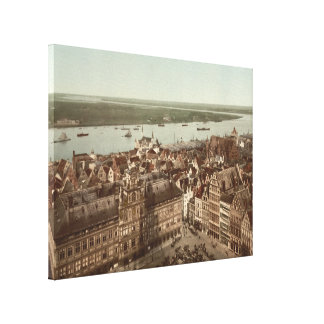 General View of Antwerp I, Belgium Canvas Print