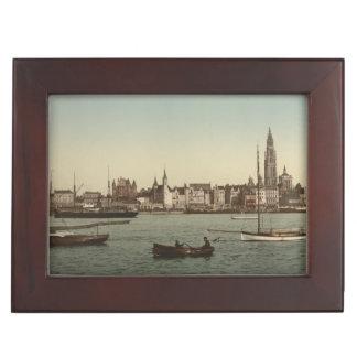 General View of Antwerp II, Belgium Keepsake Boxes