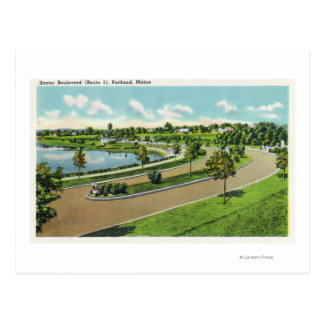 General View of Baxter Blvd, Route # 1 Postcard