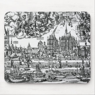 General View of Cologne, 1531 (engraving) (b/w pho Mouse Mat