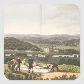 General View of Longleat from the Prospect Hill, f Square Sticker