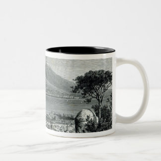 General View of Naples Two-Tone Coffee Mug