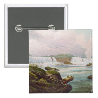 General View of Niagara Falls from Canadian Side 15 Cm Square Badge