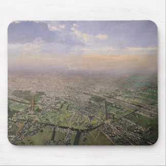 General view of Paris from a hot-air balloon Mouse Mat