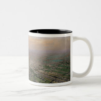 General view of Paris from a hot-air balloon Two-Tone Coffee Mug