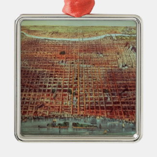 General View of Philadelphia, 1875 Christmas Ornament