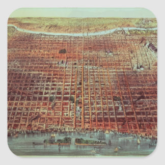 General View of Philadelphia, 1875 Square Sticker