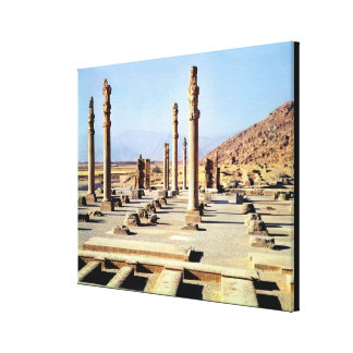 General view of the Apadana  founded c.518 BC Stretched Canvas Print