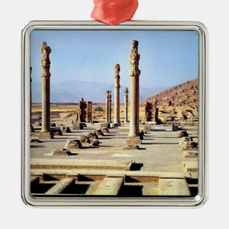General view of the Apadana  founded c.518 BC Silver-Colored Square Decoration