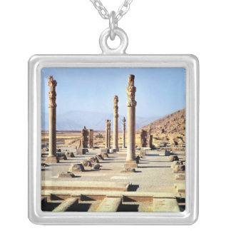 General view of the Apadana  founded c.518 BC Square Pendant Necklace