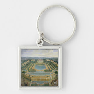 General view of the Chateau Silver-Colored Square Key Ring