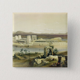 General View of the Island of Philae, Nubia, from 15 Cm Square Badge