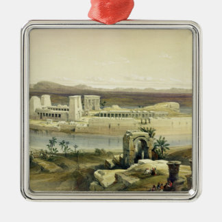 General View of the Island of Philae, Nubia, from Christmas Ornament