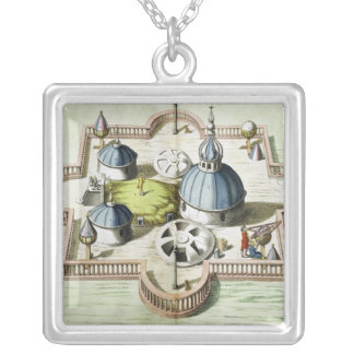 General View of the Observatory Silver Plated Necklace
