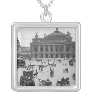 General view of the Paris Opera House Silver Plated Necklace