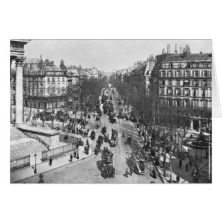 General view of the Place de la Madeleine Card